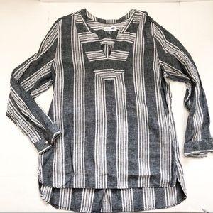 Striped Linen Blend Tunic